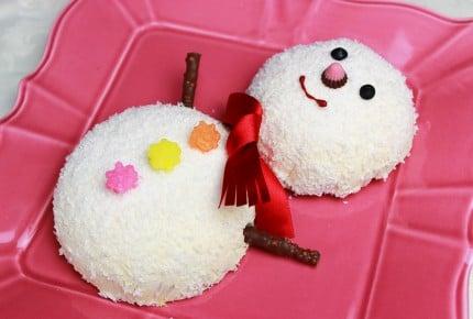 お茶碗で作れる!雪だるまのケーキが可愛すぎ!