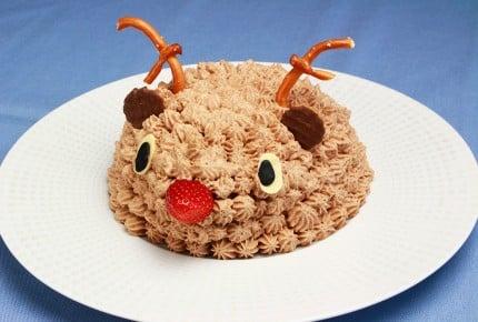 ボウルで作れる!立体トナカイケーキが可愛い!