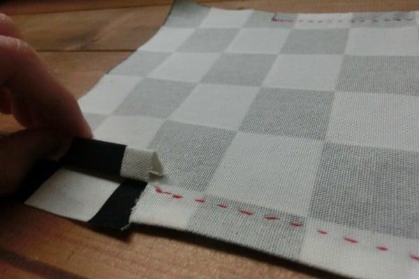コップ袋⑥ 脇を三つ折り