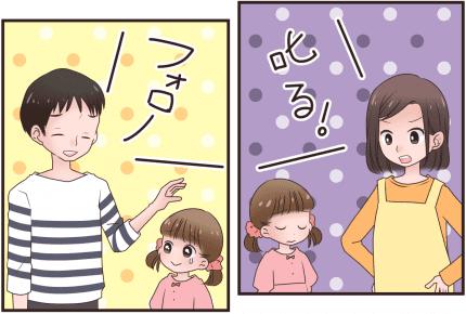 子どもを叱るとき、夫の役割は?