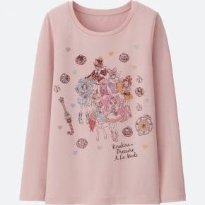 GIRLS キラキラプリキュアアラモードヒートテックエクストラウォームクルーT(長袖)①