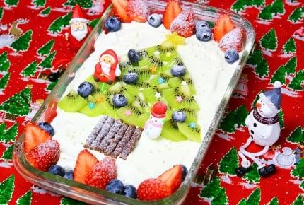【クリスマスレシピ】スコップケーキでクリスマスツリー!