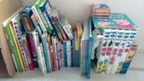 4歳男の子と2歳女の子のいる家庭の本棚