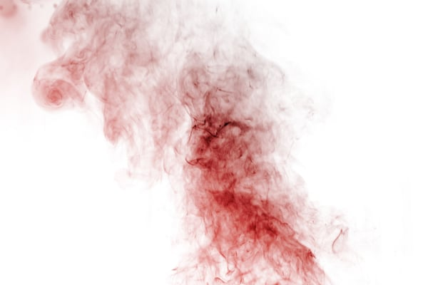 Out of focus smoke-shaped specter,white background
