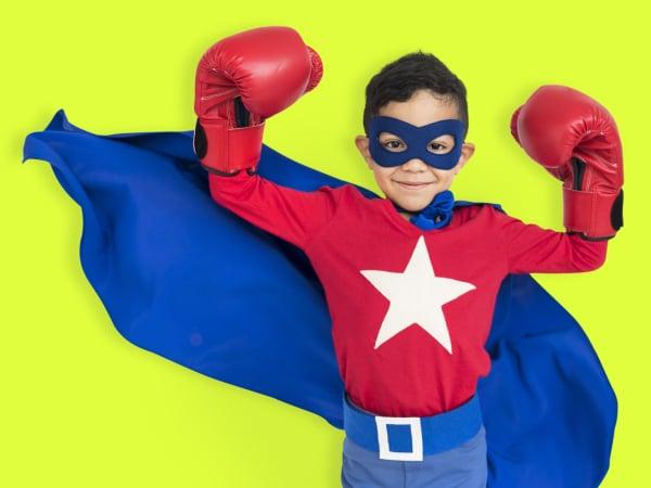 Boy Superhero Brave Child Gutsy Kid Concept