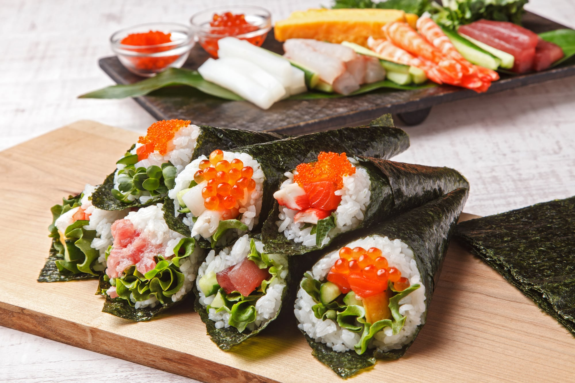 巻き 寿司 具 手