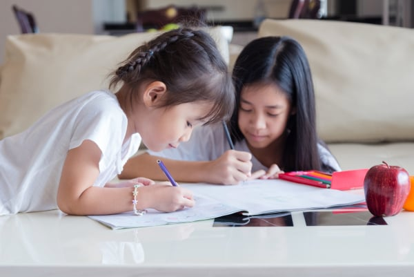 asia children drawing