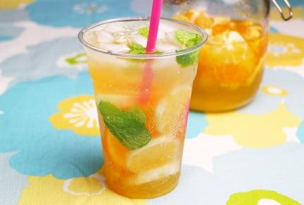 自家製フルーツシロップで作る、夏のおしゃれ炭酸ドリンク!