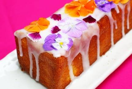 エディブルフラワーの可愛すぎるパウンドケーキ!