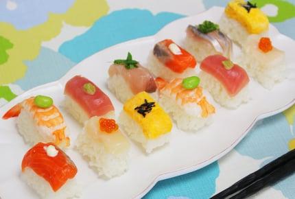 100均の製氷皿で!簡単で可愛いキューブ寿司