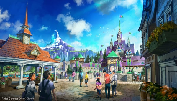 『アナと雪の女王』をテーマとしたエリア