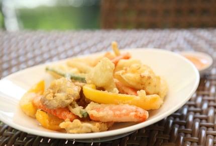 夏にオススメの変わり種天ぷら。夏野菜から、肉・魚介・スイーツ系までレシピ満載!