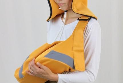 火事や地震のときに赤ちゃんを守る!「新生児向け避難用抱っこひも」が2018年9月1日より発売
