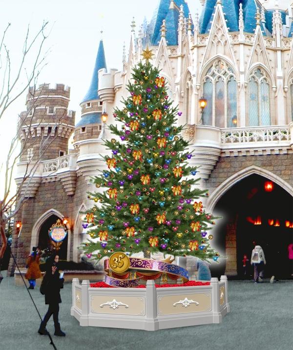 東京ディズニーランドの35周年クリスマスアニバーサリーイヤーならでは