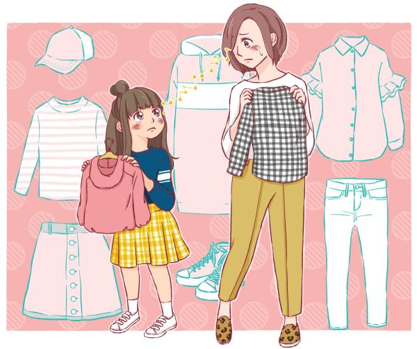 ファッション」に目覚めた女子との買い物は、ある意味イヤイヤ期