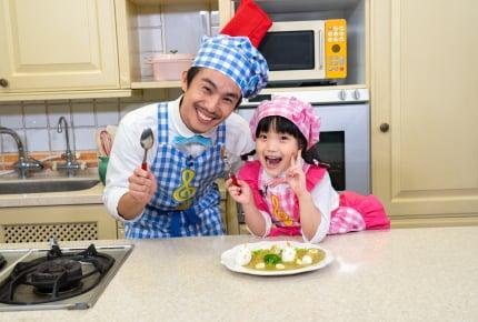中尾明慶さんと注目の子役・山崎莉里那ちゃんが親子役で初共演!親子で楽しむ料理番組がスタート