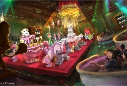 """東京ディズニーランドの新アトラクション「美女と野獣""""魔法のものがたり""""」のメイキング映像が公開"""