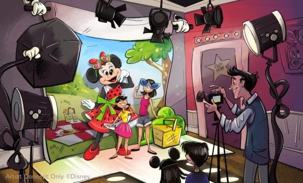 新キャラクターグリーティング施設「ミニーのスタイルスタジオ」の内観