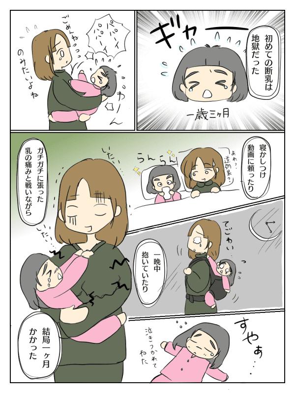 初めて 断乳