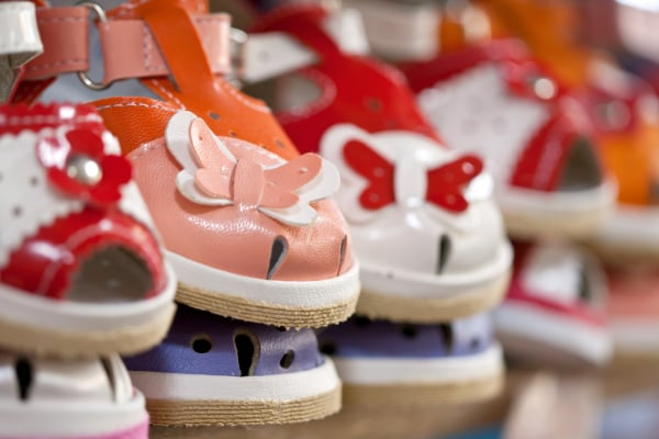 colorful children's shoes