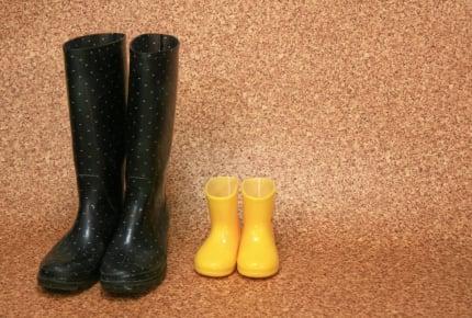 ママさん、雨のレインシューズはどんな物を履いている?