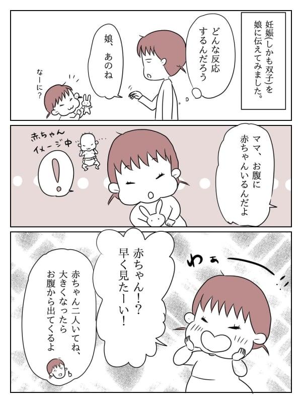 妊娠に対する娘の反応 1