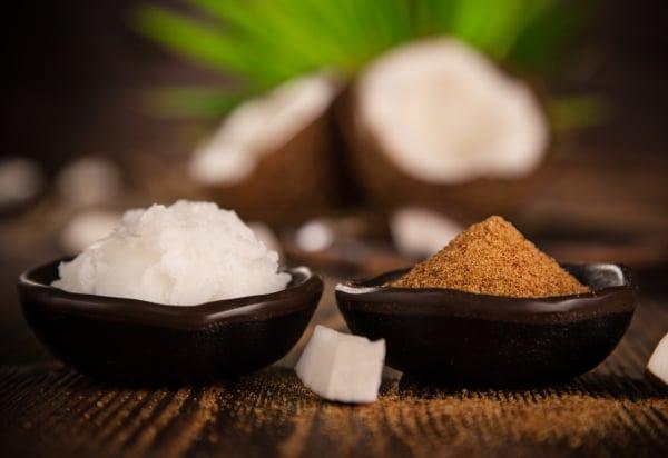 close up of a coconut sugar