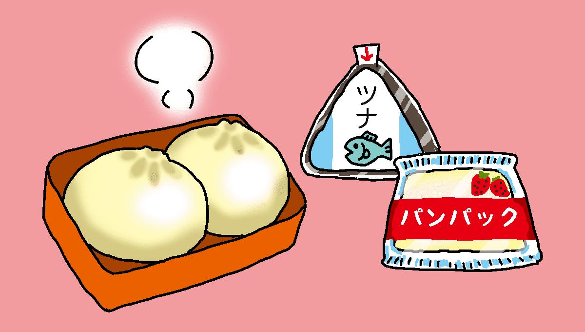 弁当で肉まん2