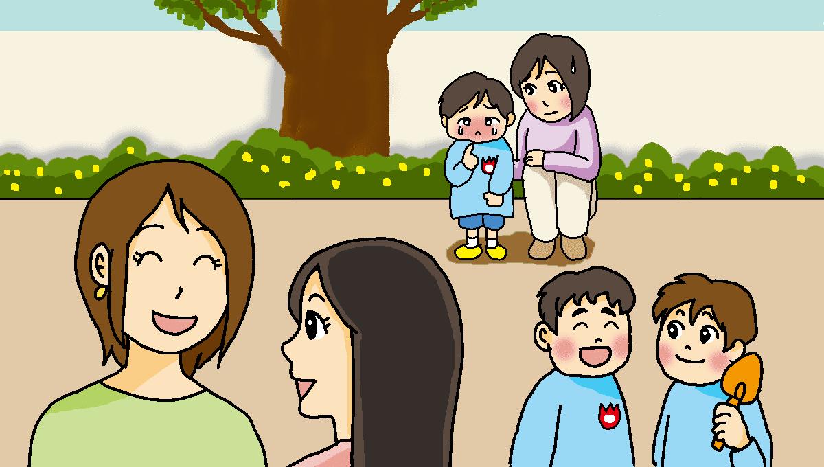 幼稚園初日1