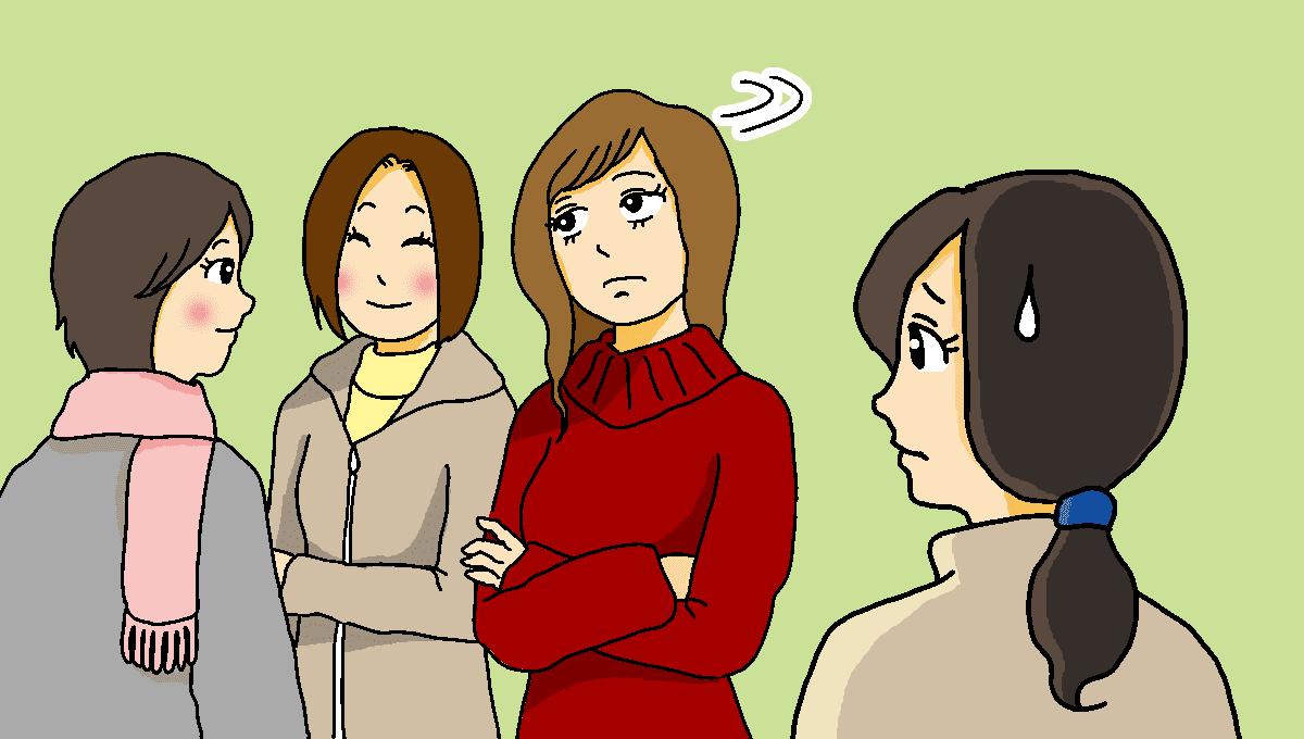 無視するママ友1