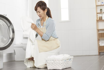 給食着に染みついた柔軟剤のにおいが臭すぎる!改善してもらう方法は?