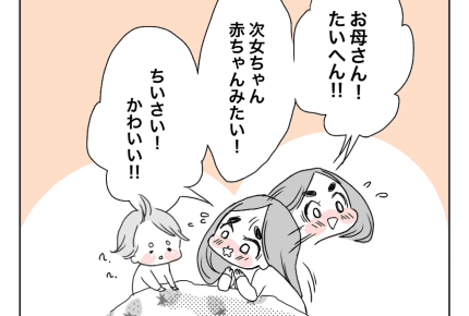 【愛とバトルの姉妹と母】あたしの赤ちゃん #4コマ母道場