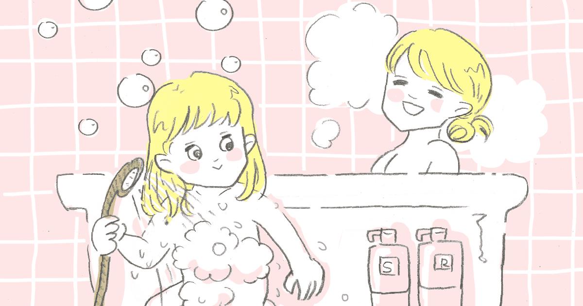 体を洗わずかけ湯2