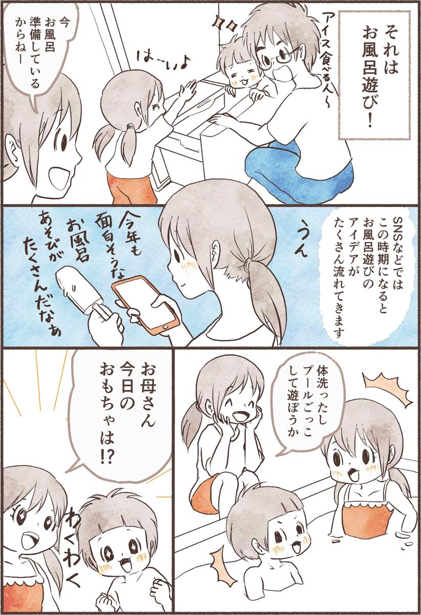暑い日には子どものお風呂遊び!