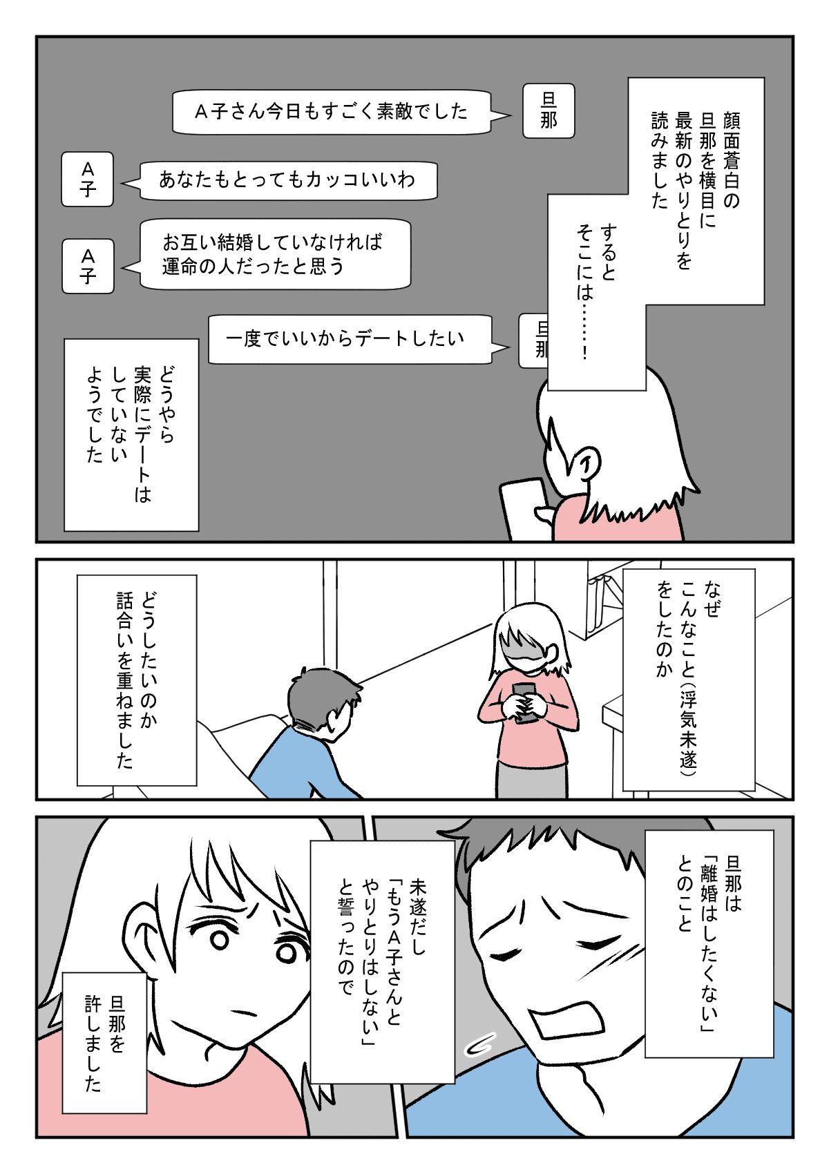 【前編】旦那が浮気未遂!2