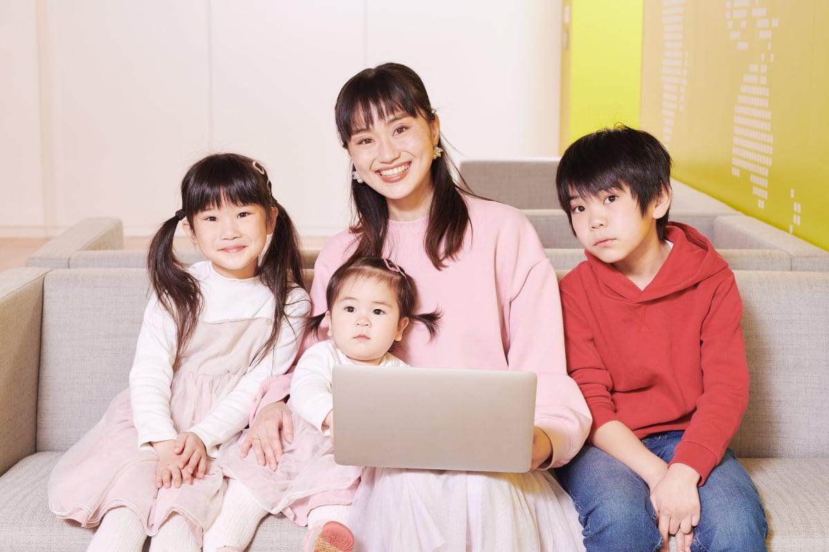 (プロフィール) 西村さん親子 長男10歳・長女7歳・次女1歳