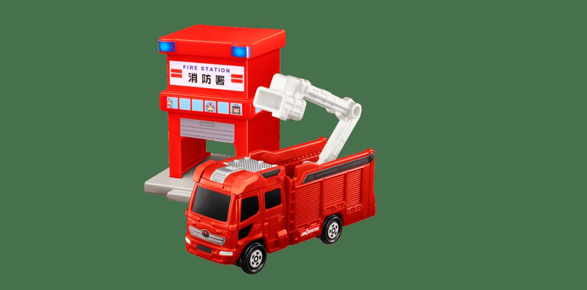 【第1弾】消防署&モリタ13mブーム付多目的消防ポンプ自動車MVF