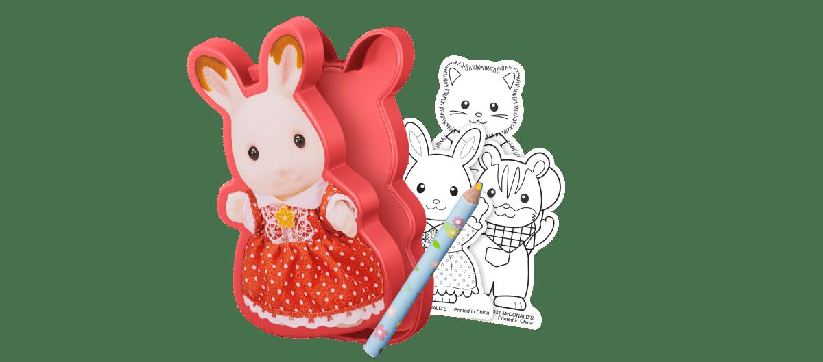 【第1弾】ショコラウサギの女の子 ぬりえセット