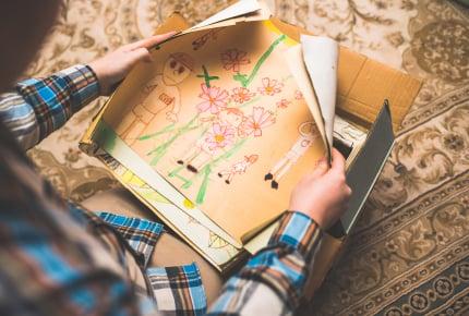 子どもの成長の記録となる思い出の数々。愛着がありすぎて片付けられない