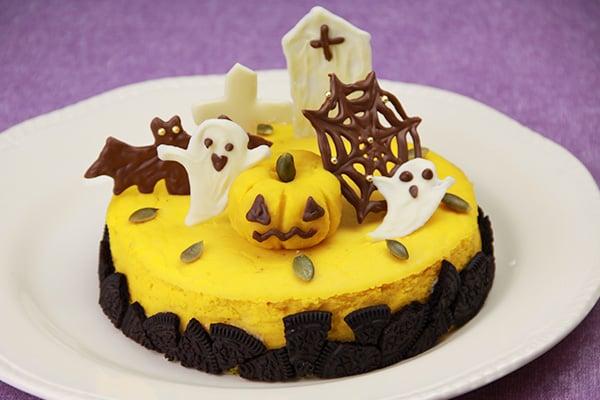 ハロウィンレシピ・かぼちゃのチーズケーキ