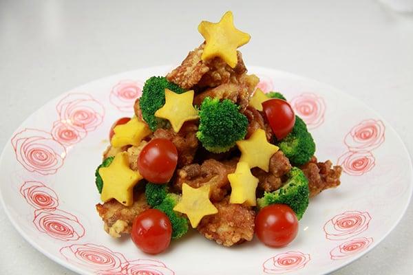 クリスマスレシピ☆からあげツリー