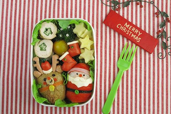 クリスマスレシピ☆サンタとトナカイのお弁当