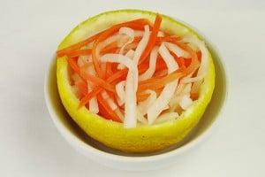 おせちレシピ☆林檎とはちみつの紅白なます
