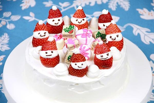 クリスマスレシピ☆サンタとプレゼントのショートケーキ
