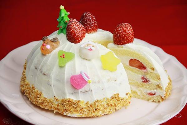 クリスマスレシピ☆スノードームのケーキ