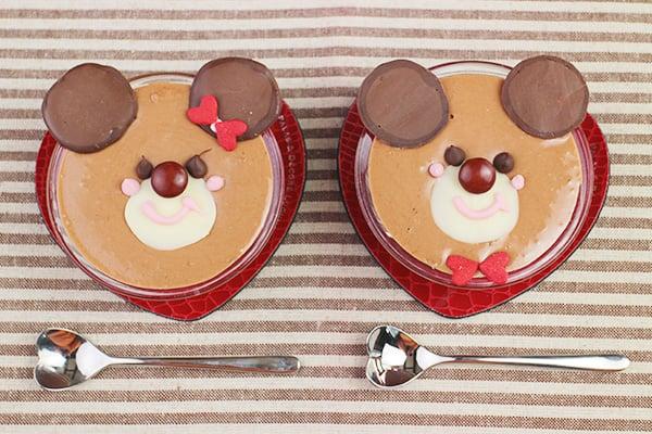 バレンタインレシピ☆くまさんのチョコムース