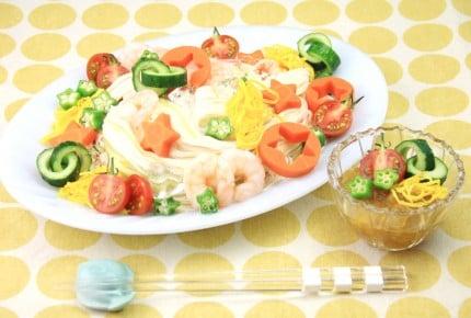 【七夕レシピ☆カレー味のジュレで食べるそうめん】