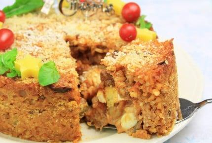 クリスマスのご馳走レシピ!中から色々出てくるお米のケーキ!?