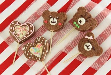 簡単に作れて超可愛い!くまやハートのクッキーポップ!