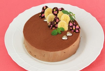 本命バレンタイン!豪華に見えるチョコバナナムースケーキの作り方